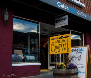 Gallery Crawl at CatchLight Gallery in downtown West Jefferson